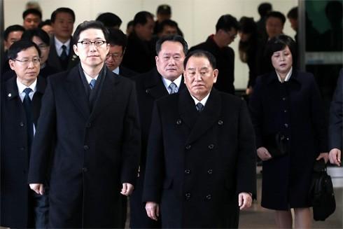 Tổng thống Hàn Quốc gặp đoàn đại biểu Triều Tiên tại PyeongChang ảnh 1