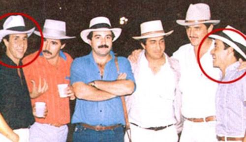 """Fabio Ochoa (trái) - người sáng lập băng đảng Medellin, cũng là cánh tay phải của """"ông trùm"""" ma túy Pablo Escobar"""