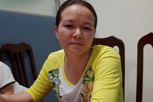 Trần Thị Tùng thời điểm bị bắt theo quyết định truy nã đặc biệt