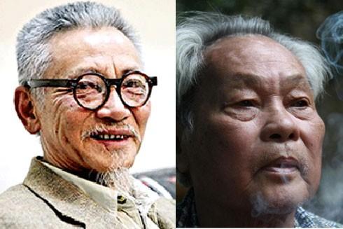 Nhà văn Đỗ Chu và nhà văn Nguyễn Quang Sáng