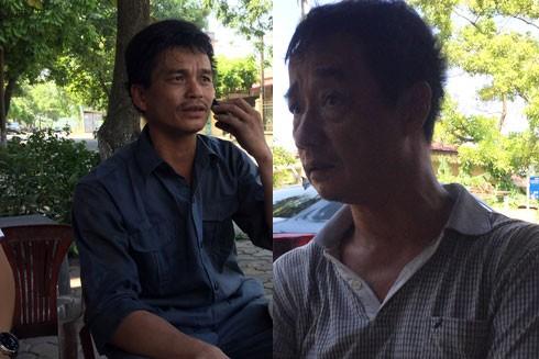 Người dân thôn Dục Nội, xã Việt Hùng, huyện Đông Anh phản ánh tình trạng ô nhiễm với phóng viên Báo An ninh Thủ đô