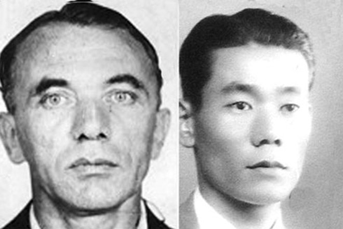 Chân dung điệp viên Otto Kuehn và liên lạc viên cơ quan tình báo Nhật Bản Takeo Yoshikawa