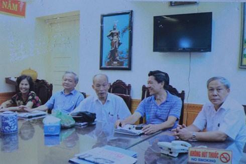 Một buổi sinh hoạt của Ban Chủ nhiệm CLB sĩ quan hưu trí CATP Hà Nội