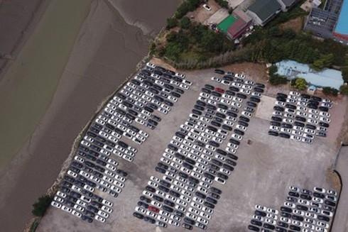 Hàng trăm chiếc xe BMW đã được thu hồi về trạm bảo trì Pyeongtaek, cách Seoul 65 km