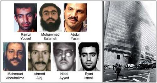 Các đối tượng thực hiện vụ tấn công Trung tâm Thương mại Thế giới năm 1993