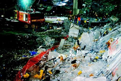 Hiện trường vụ tấn công Trung tâm Thương mại Thế giới ngày 26-2-1993