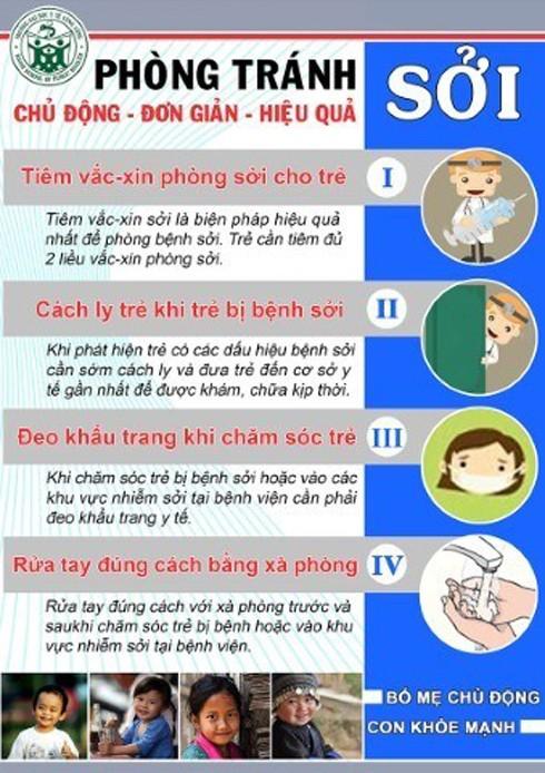 Phòng tránh bệnh sởi cho trẻ trước nguy cơ bùng phát dịch