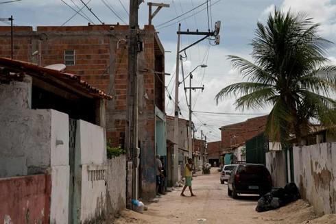Góc phố ở Grande Bom Jardim, khu vực nghèo ở Fortaleza - nơi xảy ra nhiều vụ thanh thiếu niên bị sát hại