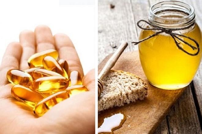 Làm mềm môi bằng mật ong và vitamin E