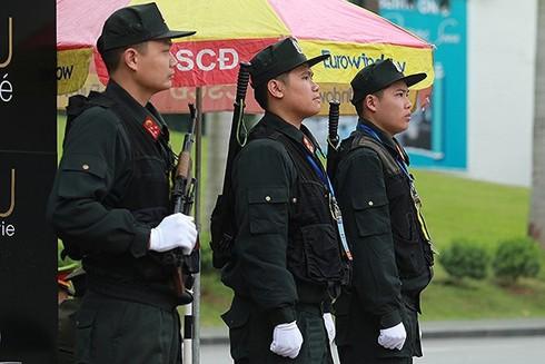 Lực lượng CSCĐ CATP Hà Nội bảo vệ an ninh tại Hội nghị Thượng đỉnh Mỹ - Triều Tiên