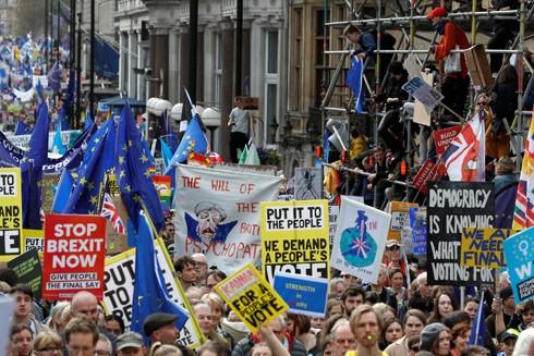 Biểu tình tại Thủ đô London phản đối Brexit