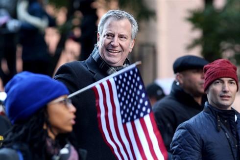 Thị trưởng New York Bill de Blasio quyết đối đầu với ông Donald Trump trong cuộc bầu cử Tổng thống Mỹ vào tháng 11-2020