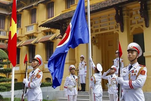 Lễ thượng cờ ASEAN diễn ra tại Bộ Ngoại giao Việt Nam ngày 8-8-2019