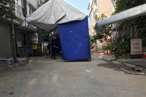 Khu vực xảy ra vụ chồng giết vợ ở quận Hà Đông, Hà Nội