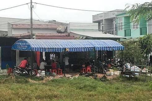 Hiện trường nơi xảy ra vụ án mạng tại huyện Hóc Môn, TP.HCM
