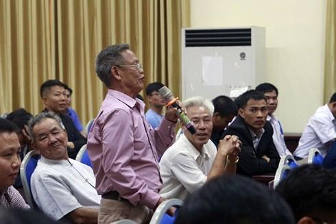 Trong buổi công bố Kết luận của Thanh tra Chính phủ mới đây, người dân xã Đồng Tâm, huyện Mỹ Đức, Hà Nội phát biểu mong muốn ổn định và phát triển