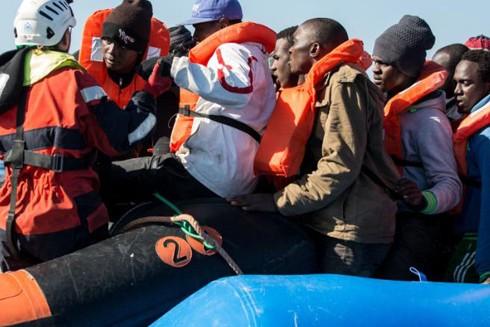Một nhóm 47 người tị nạn được tàu Sea Watch 3 cứu sống ở ngoài khơi Libya hồi tháng 1-2019