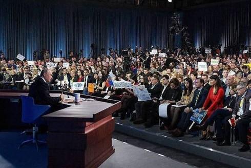Gần 1.900 phóng viên tham gia cuộc họp báo của Tổng thống Putin