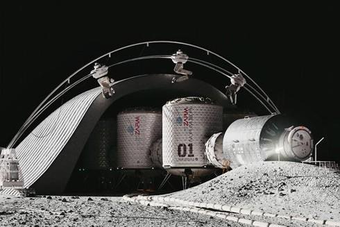 Mô-đun đầu tiên trong mô hình mô phỏng môi trường sống thực trên Sao Hỏa ở Bremen, phía Bắc nước Đức