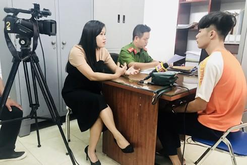 Hình ảnh tác nghiệp của phóng viên Truyền hình An ninh ATV