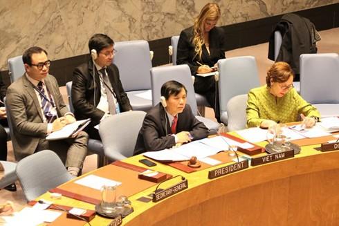 Đại sứ Đặng Đình Quý, Trưởng Phái đoàn đại diện thường trực Việt Nam tại Liên hợp quốc tại phiên họp