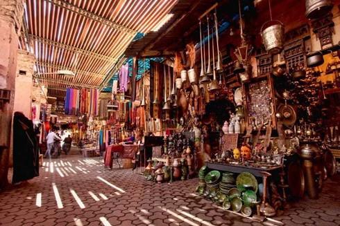 Một khu chợ ở Rabat