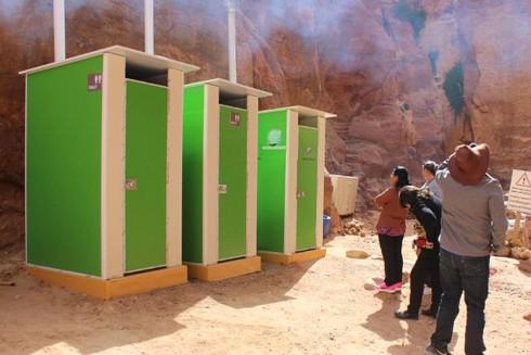 Nhà vệ sinh của EcoLoo tại khu du lịch Petra