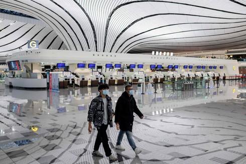 Sân bay Đài Bắc, Đài Loan (Trung Quốc) vắng hiu hắt trong mùa dịch Covid-19