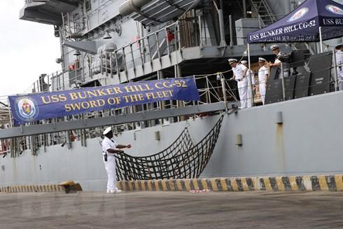 Tàu USS Bunker Hill (CG52) của Mỹ cập cảng Tiên Sa, TP Đà Nẵng