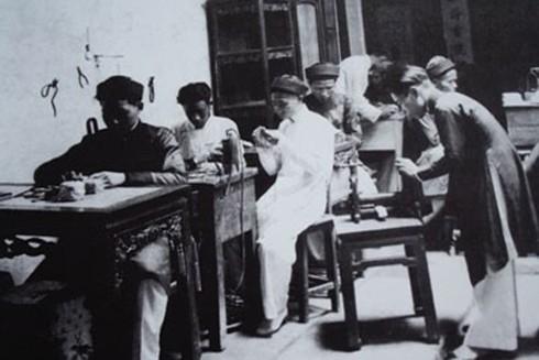 Xưởng làm đồ trang sức ở phố Hàng Bạc