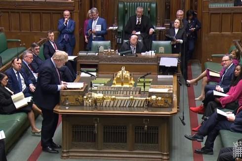 Thủ tướng Anh Boris Johnson trong cuộc họp Hạ viện chỉ 3 ngày trước khi có kết quả xác nhận dương tính với Covid-19