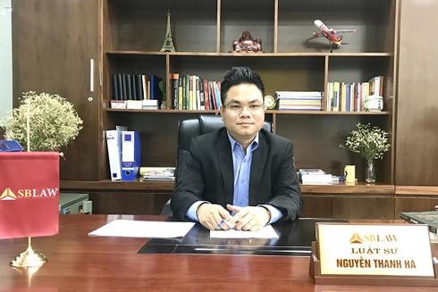 Luật sư Nguyễn Thanh Hà (Chủ tịch Công ty SBLAW)