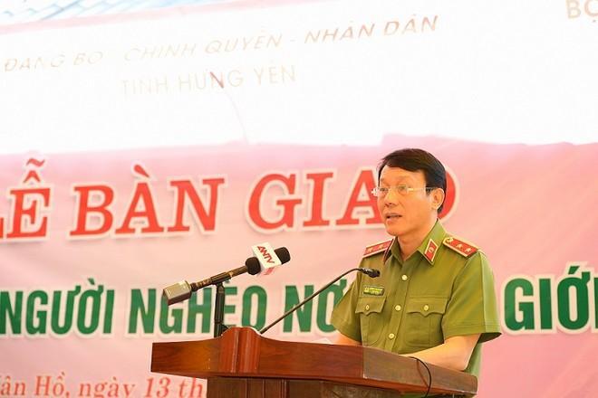 Thứ trưởng Bộ Công an Lương Tam Quang phát biểu tại buổi Lễ