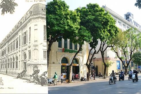 Hình ảnh xưa và nay của tòa nhà Bưu điện Hà Nội