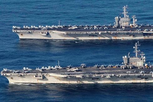 Tàu sân bay USS Nimitz và USS Ronald Reagan xuất hiện ở Biển Đông