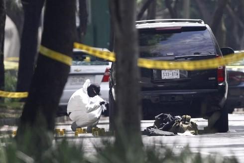 Hiện trường vụ ám sát Cảnh sát trưởng thành phố Mexico hôm 26-6