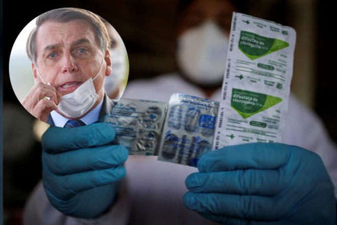 Tổng thống Brazil công bố đang dùng thuốc sốt rét hydroxychloroquine để điều trị Covid-19