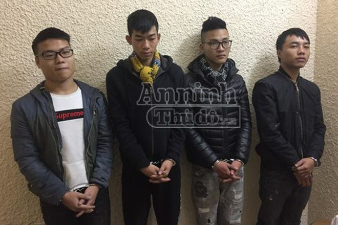 """Ổ nhóm cướp tuổi """"teen"""" gây ra liên tiếp ba vụ cướp trong đêm bị cơ quan CSĐT - CATP Hà Nội bắt giữ"""