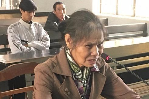 Bị cáo Phạm Thị Thu tại phiên tòa
