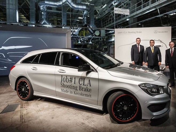 Chiếc Mercedes CLA Shooting Brake đầu tiên được hoàn thành