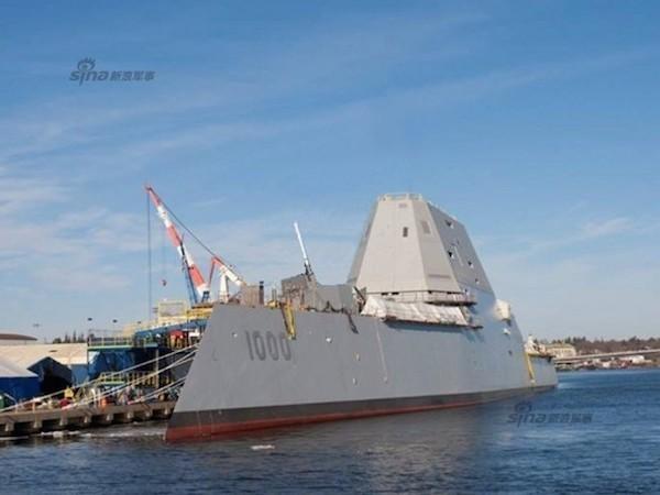 Mỹ lùi thời gian bàn giao 2 tàu khu trục lớp Zumwalt siêu hiện đại ảnh 1
