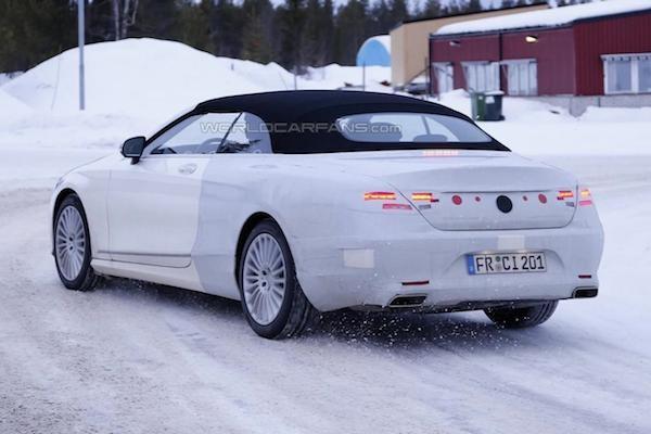 """Mercedes S-Class Cabriolet lộ ảnh """"nóng"""" trên đường chạy thử ảnh 2"""