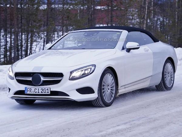 """Mercedes S-Class Cabriolet lộ ảnh """"nóng"""" trên đường chạy thử"""