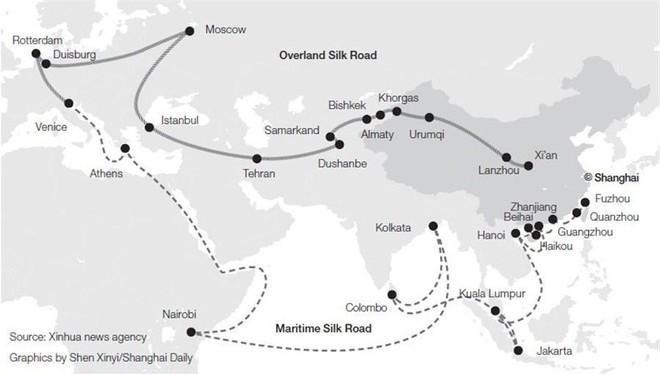Trung Quốc có tham vọng một vài đai kinh tế trên biển và đất liền