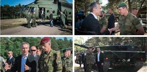 Ông Stoltenberg đi thị sát tình hình tập trận tại Ba Lan