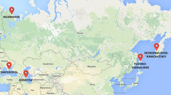 Các địa điểm đặt trụ sở chống khủng bố mới của Nga