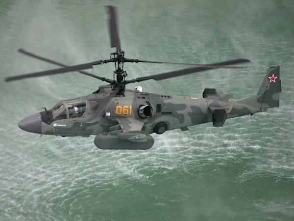 Trực thăng Ka-52K được thiết kế để hoạt động trên tàu Mistral