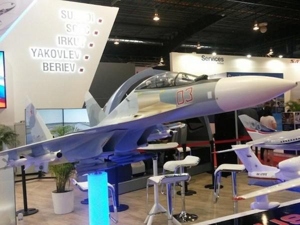 Mô hình máy bay Su-30SME xuất hiện tại Singapore Airshow