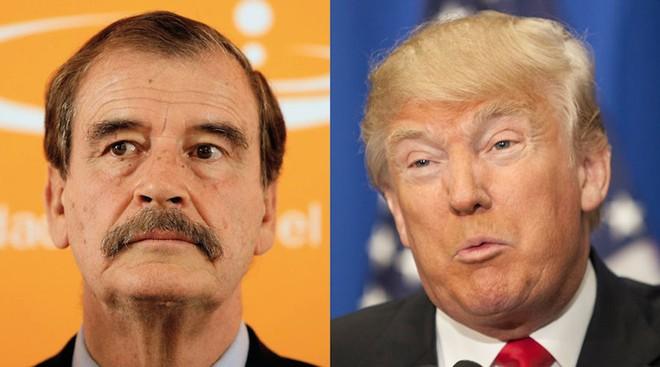 Cựu Tổng thống Mexico Vicente Fox (trái) và ông Donald Trump