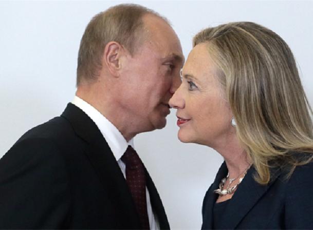 Tổng thống Nga Putin và bà Hilary Clinton